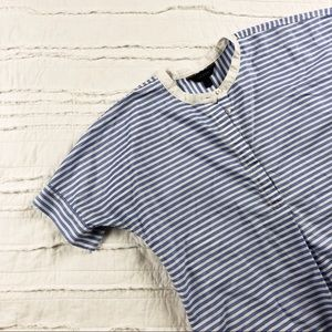 J. Crew | blue and white striped top